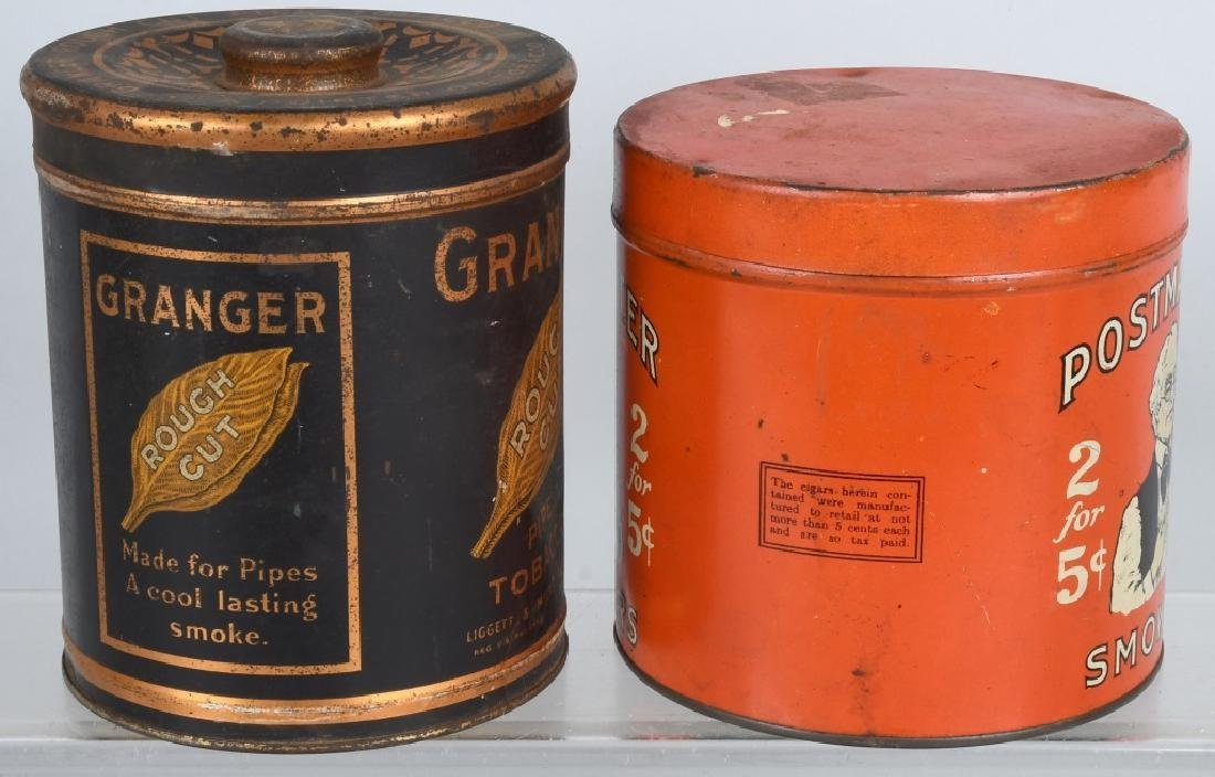 POSTMASTER & GRANGER TOBACCO TINS - 4