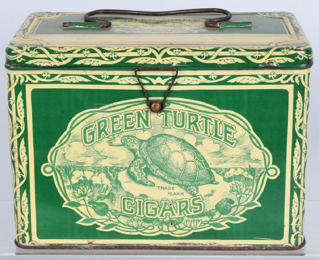 GREEN TURTLE CIGARS TOBACCO TIN
