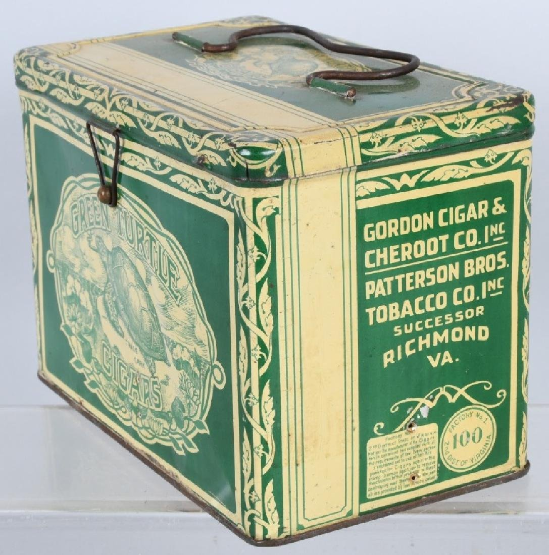 GREEN TURTLE CIGARS TOBACCO TIN - 2