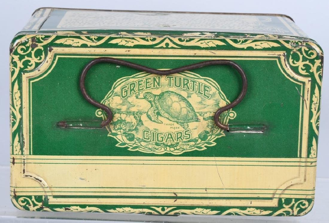 GREEN TURTLE CIGARS TOBACCO TIN - 5