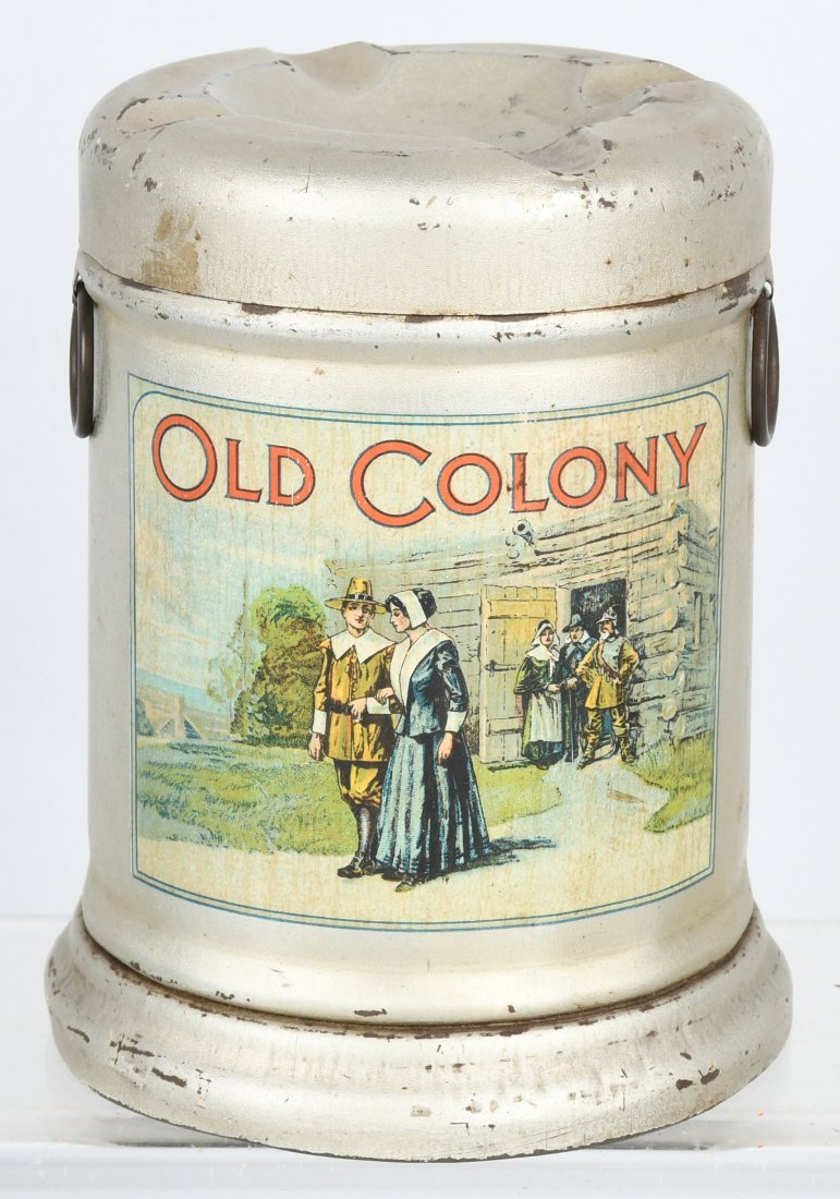 BAGLEY'S OLD COLONY TOBACCO TIN , ASHTRAY LID