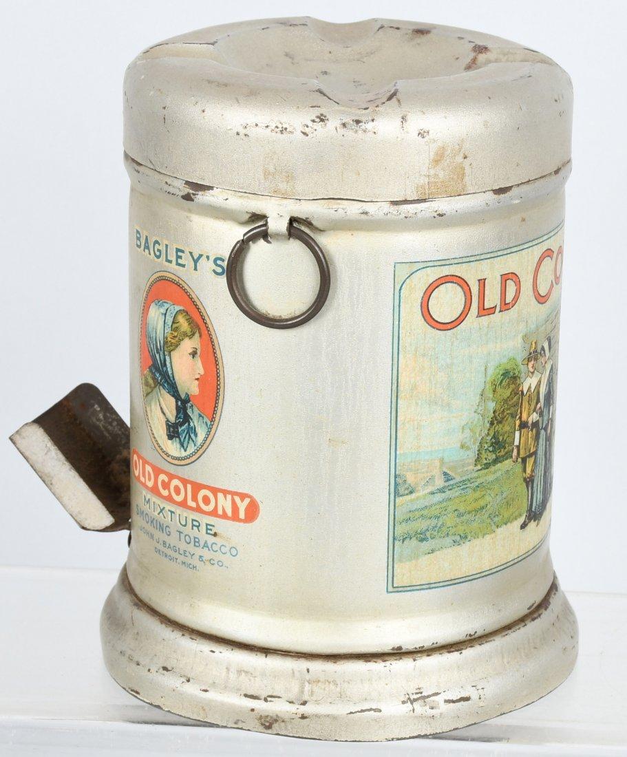 BAGLEY'S OLD COLONY TOBACCO TIN , ASHTRAY LID - 5
