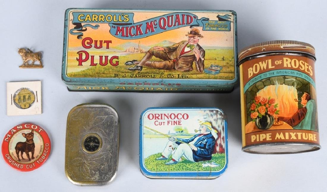 VINTAGE TOBACCO TIN LOT and MORE