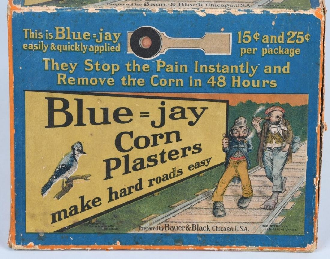BLUE - JAY CORN PLASTERS CORNER DISPLAY, VINTAGE - 2