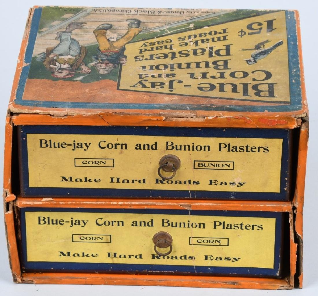 BLUE - JAY CORN PLASTERS CORNER DISPLAY, VINTAGE - 5