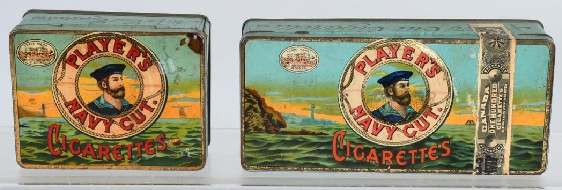 2- PLAYER'S NAVY CUT CIGARATTE TINS