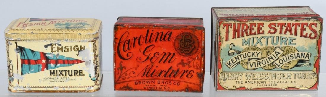 3- MEDIUM TOBACCO TINS