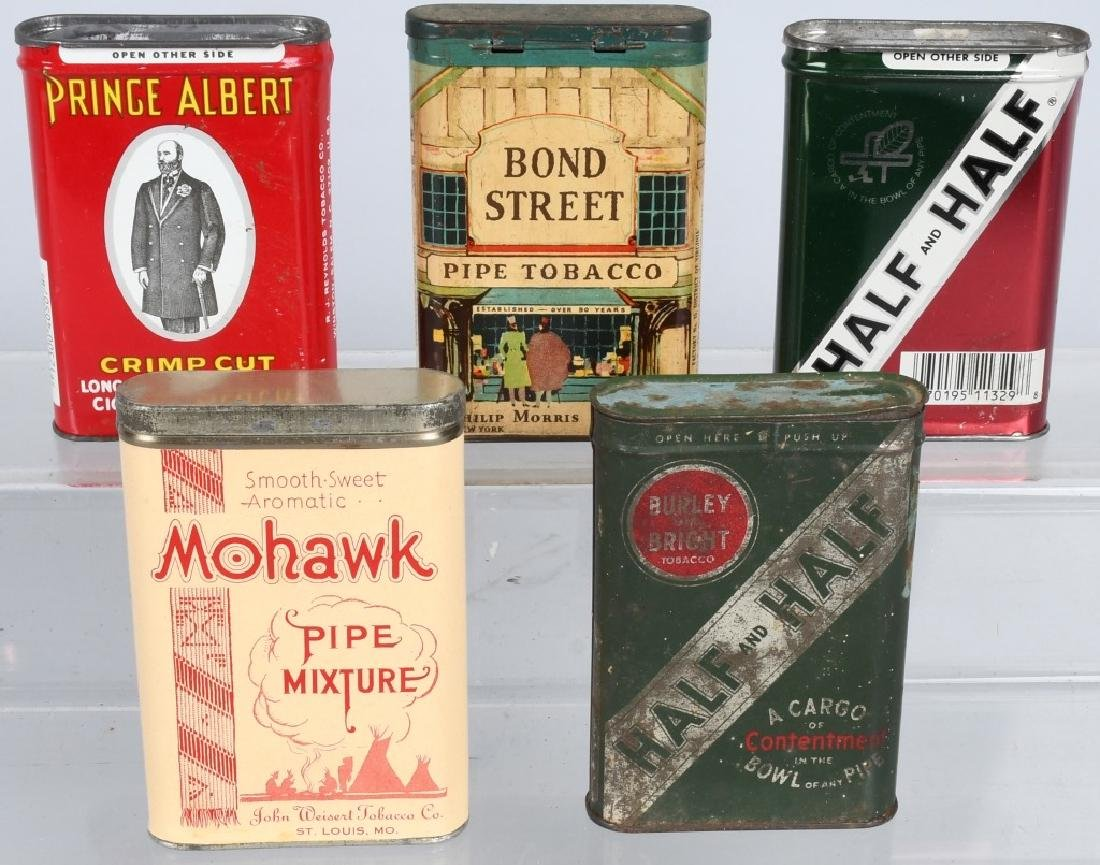 5- POCKET TOBACCO TINS