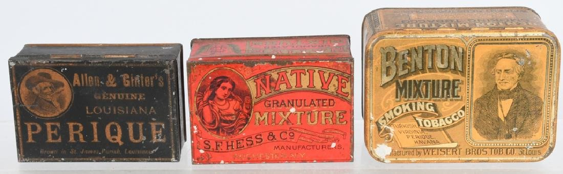3- SMALL TOBACCO TINS