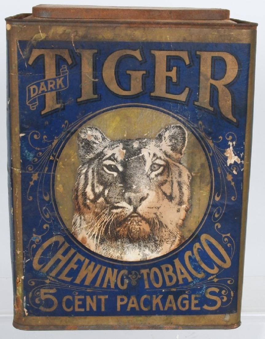 TIGER DARK CHEWING TOBACCO STORE BIN