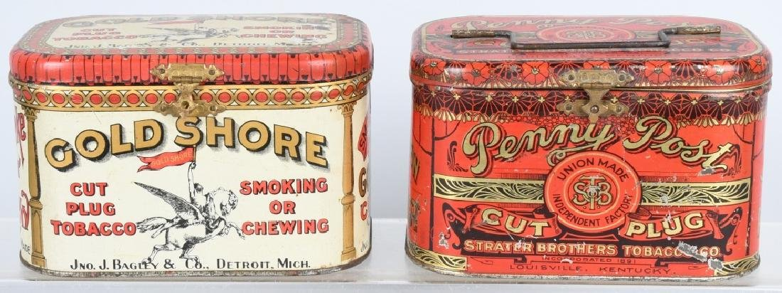 GOLD SHORE & PENNY POST TOBACCO TINS