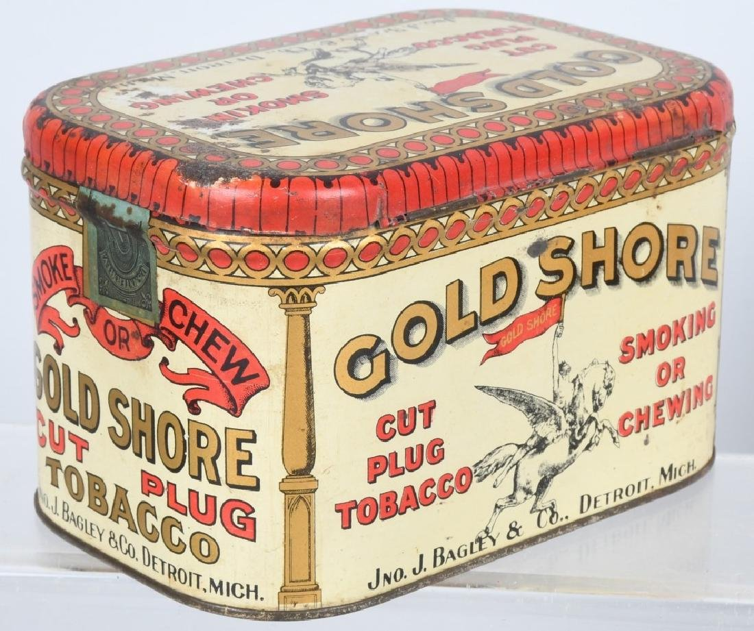 GOLD SHORE & PENNY POST TOBACCO TINS - 3