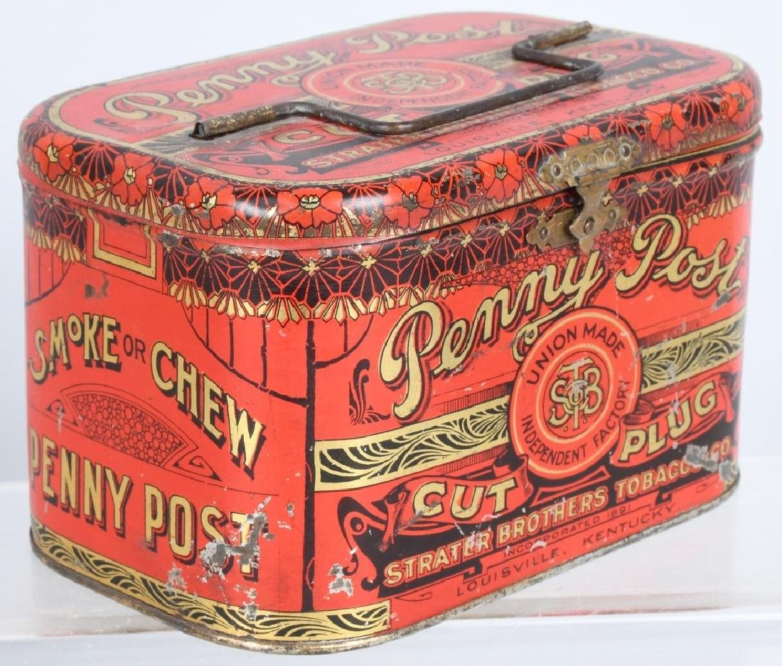 GOLD SHORE & PENNY POST TOBACCO TINS - 4