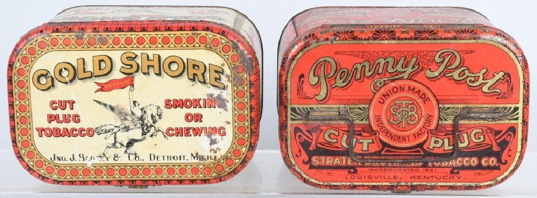 GOLD SHORE & PENNY POST TOBACCO TINS - 6