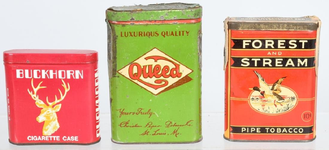 3- POCKET TOBACCO TINS