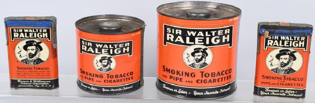 4- SIR WALTER RALEIGH TOBACCO TINS