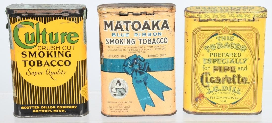 3- POCKET TOBACCO TINS - 2