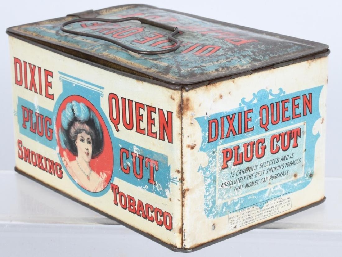 DIXIE QUEEN LUNCH BOX TOBACCO TIN - 3