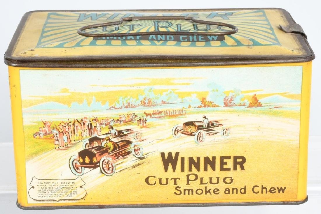WINNER CUT PLUG TOBACCO TIN