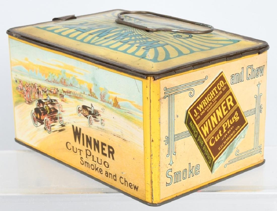 WINNER CUT PLUG TOBACCO TIN - 3