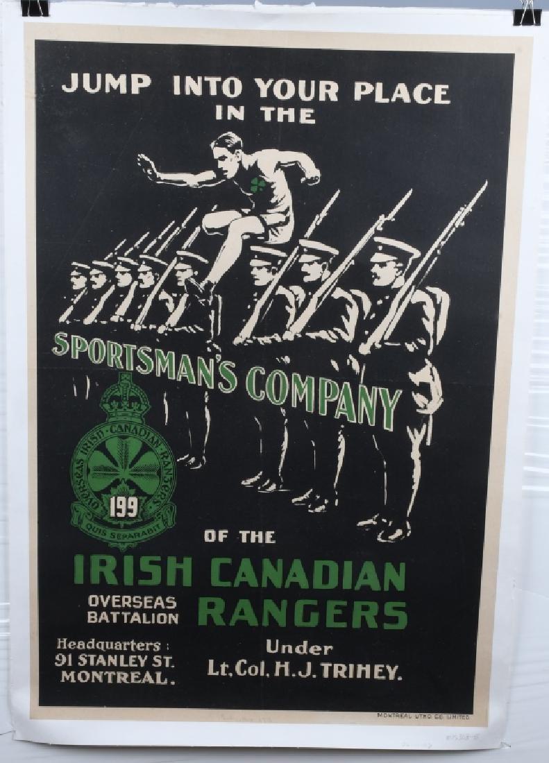 WWI IRISH CANADIAN RANGERS POSTER