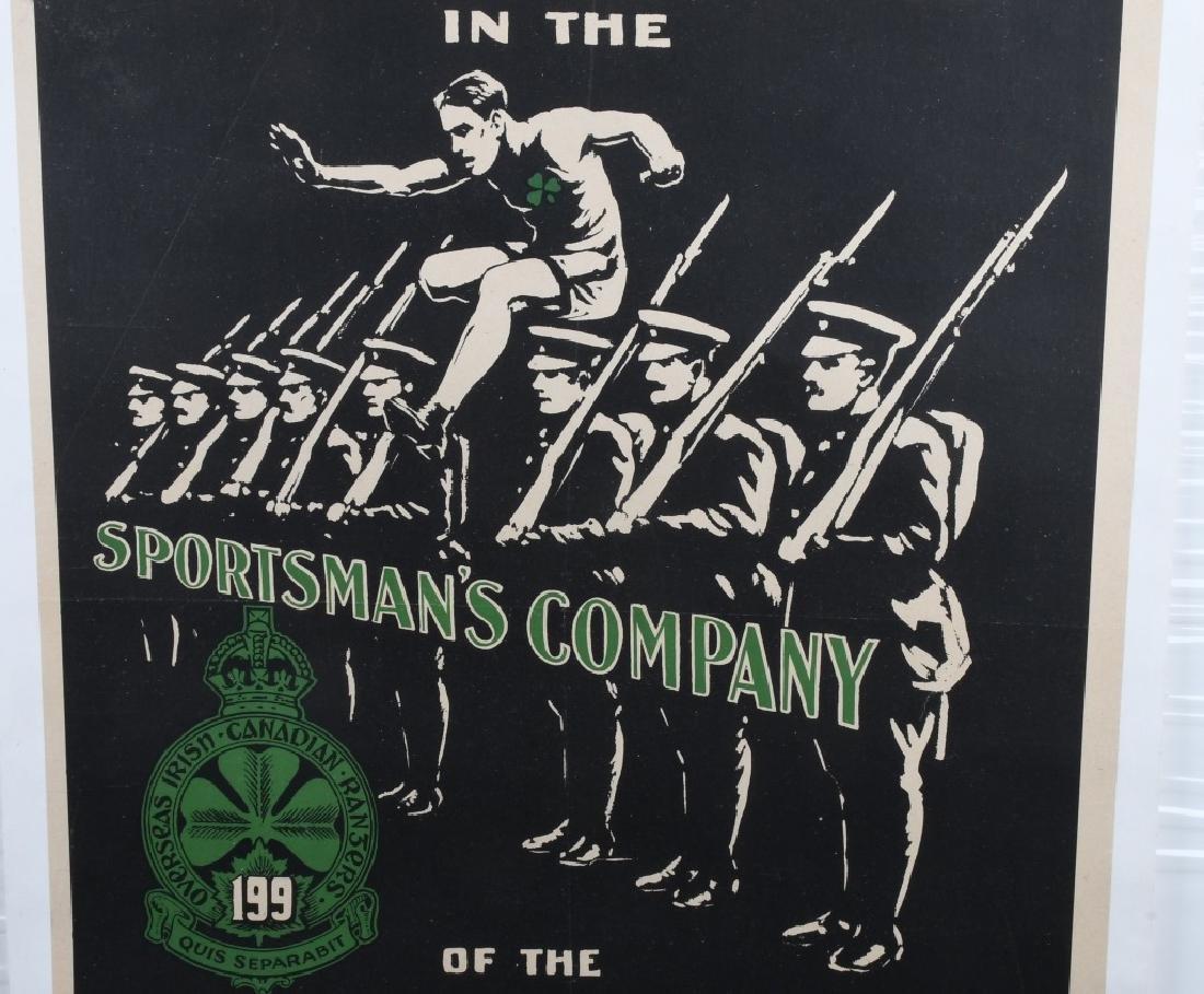 WWI IRISH CANADIAN RANGERS POSTER - 3