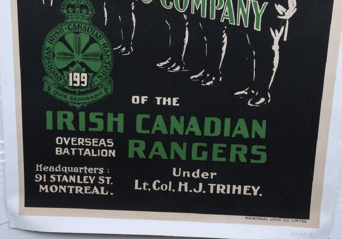 WWI IRISH CANADIAN RANGERS POSTER - 4