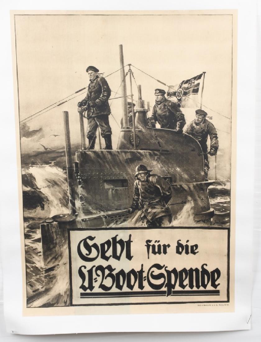 WWI GERMAN U-BOAT POSTER