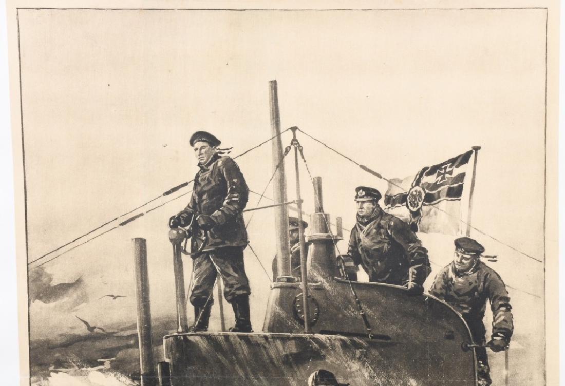 WWI GERMAN U-BOAT POSTER - 2