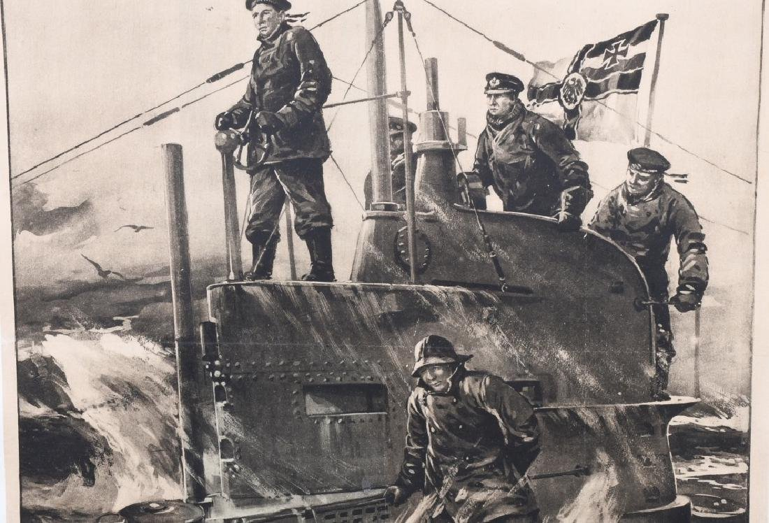 WWI GERMAN U-BOAT POSTER - 3