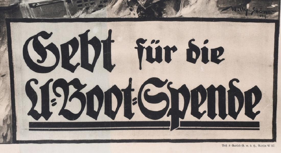 WWI GERMAN U-BOAT POSTER - 4