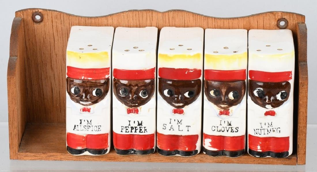 3-JAPAN CERAMIC BLACK AMERICANA SPICE SETS - 3