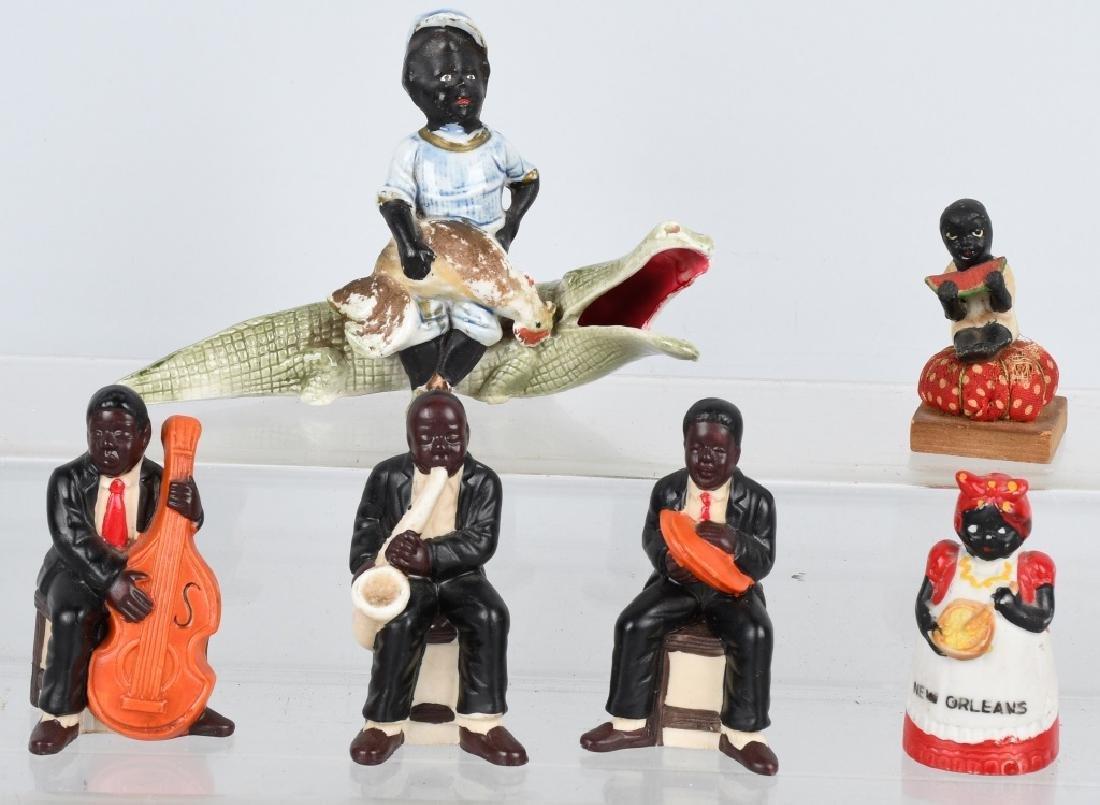BLACK AMERICANA BISQUE FIGURES, GERMAN & JAPAN