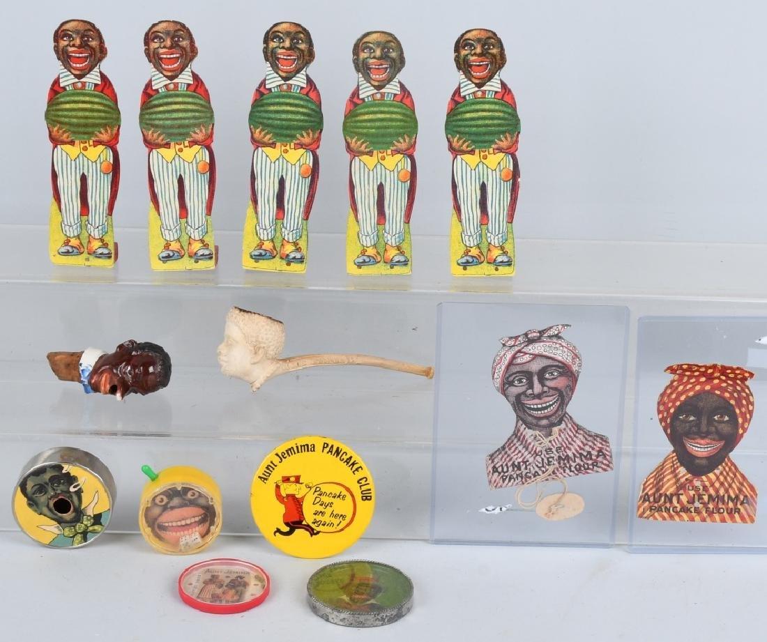BLACK AMERICANA LOT, PUZZLES, FIGURAL PIPE & MORE