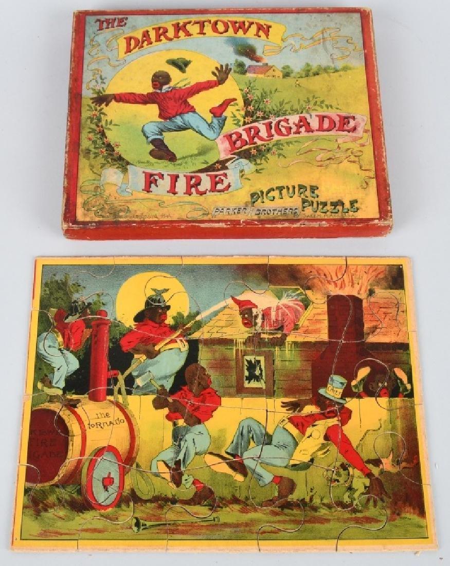 1894 PARKER BROS. DARKTOWN FIRE BRIGADE PUZZLE