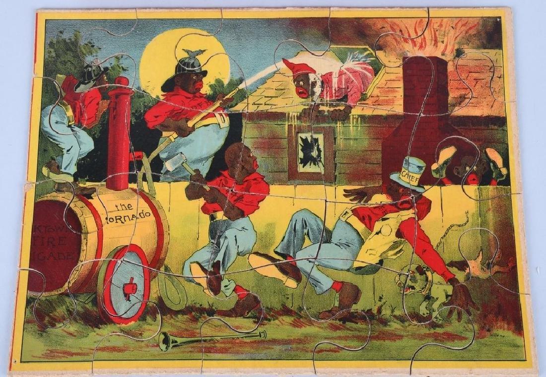 1894 PARKER BROS. DARKTOWN FIRE BRIGADE PUZZLE - 2