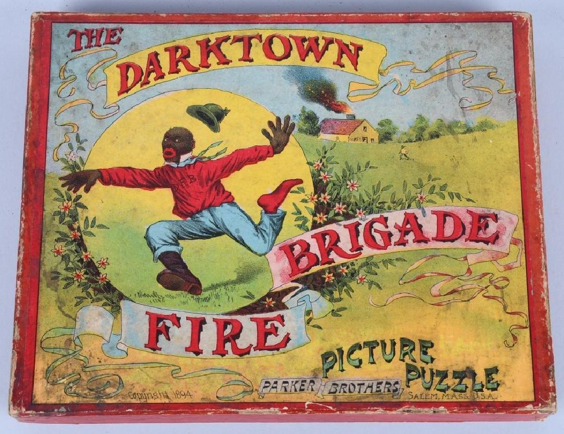 1894 PARKER BROS. DARKTOWN FIRE BRIGADE PUZZLE - 3