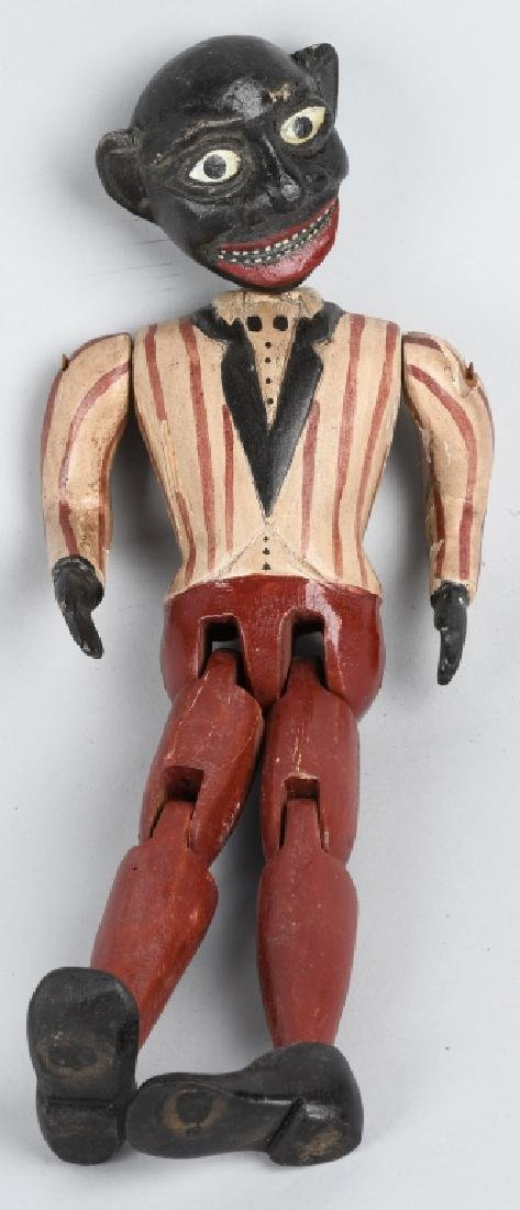 2-BLACK AMERICANA WOOD JOINTED DANCING TOYS - 2