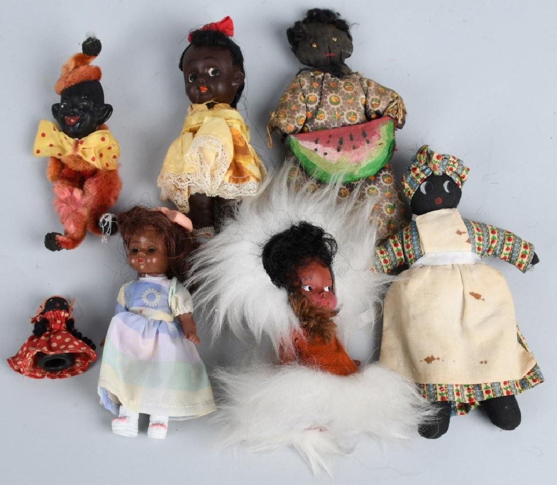LARGE BLACK AMERICANA TOY & DOLL LOT, VINTAGE - 4