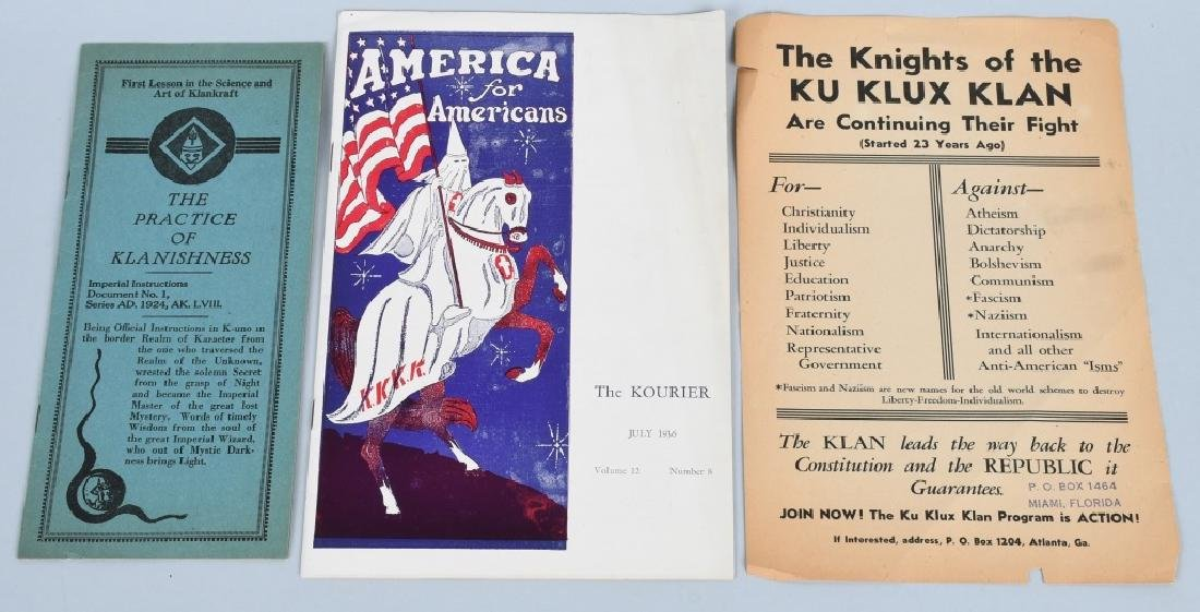 1930'S KU KLUX KLAN EPHEMERA LOT - 2
