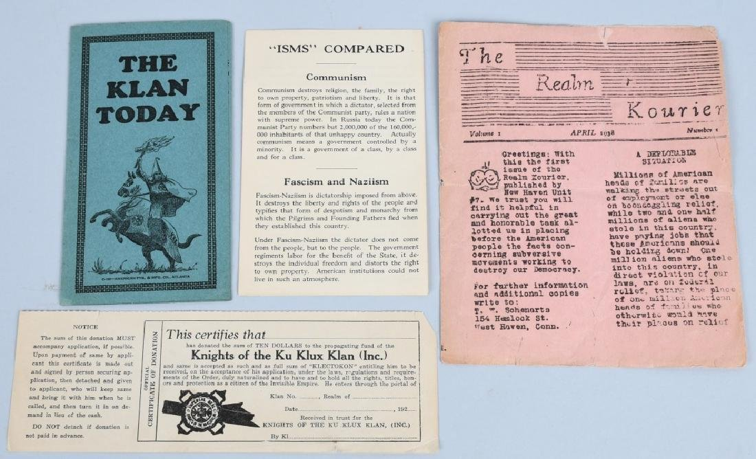 1930'S KU KLUX KLAN EPHEMERA LOT - 3