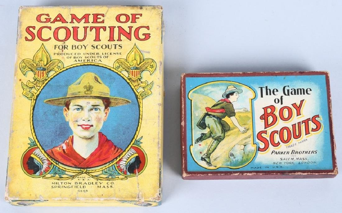 2-EARLY BOY SCOUT CARD GAMES, BOXED