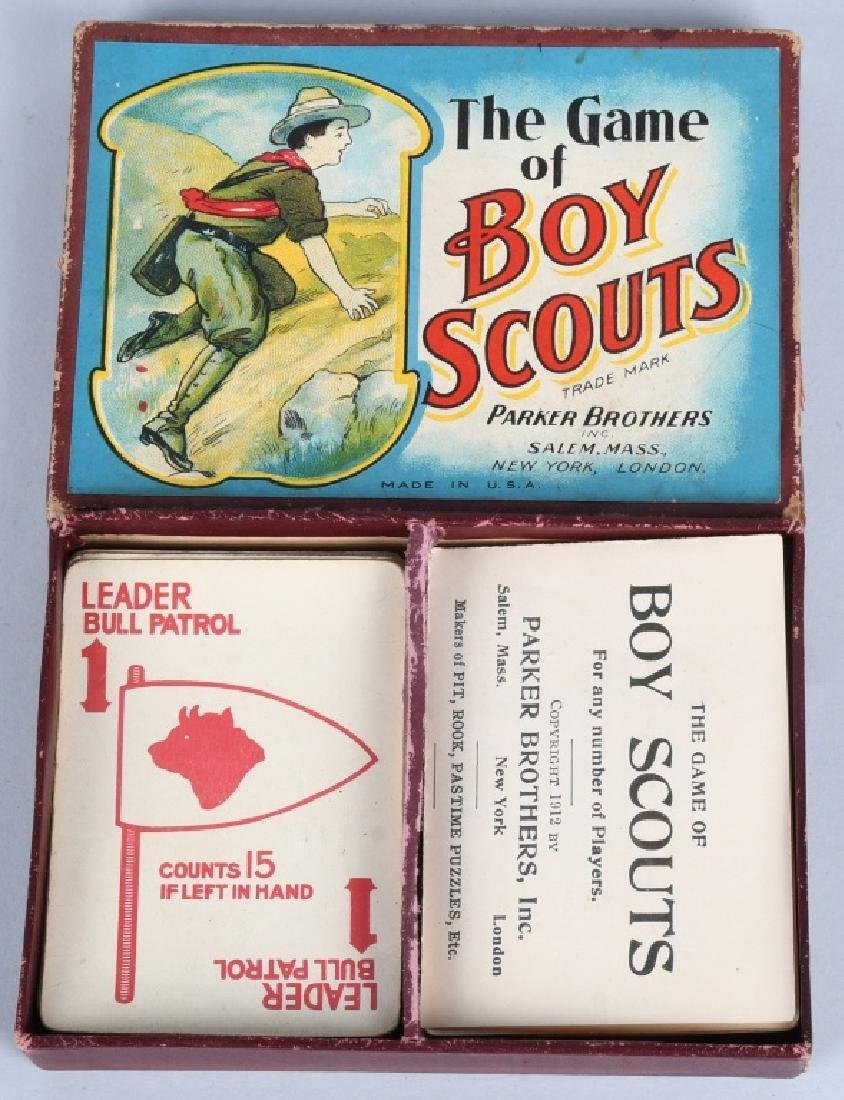 2-EARLY BOY SCOUT CARD GAMES, BOXED - 2