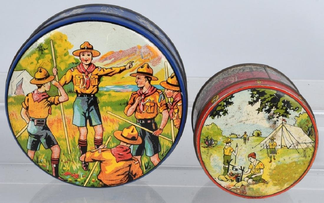 2-EARLY BOY SCOUT BISQUIT TINS