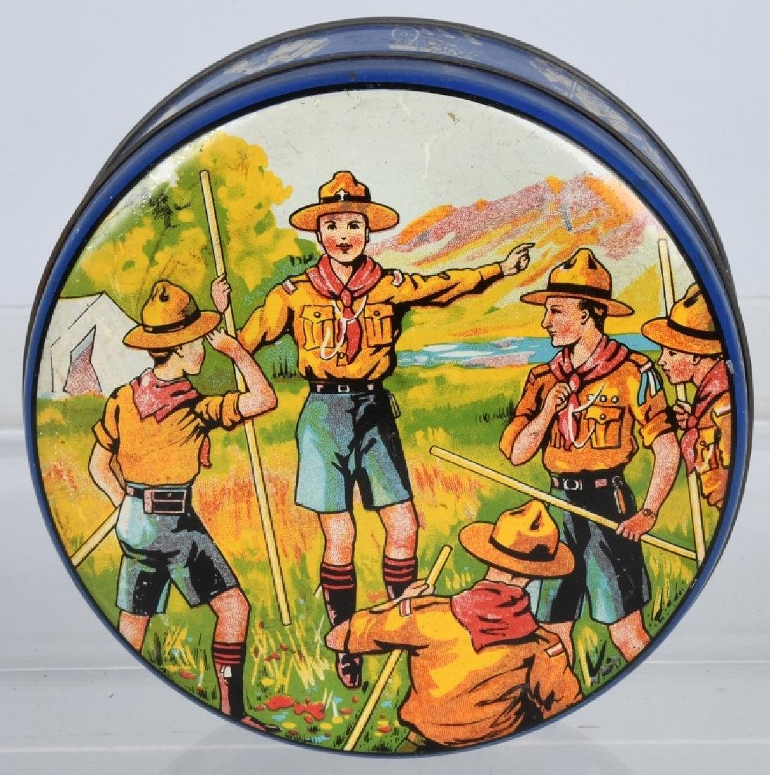 2-EARLY BOY SCOUT BISQUIT TINS - 2