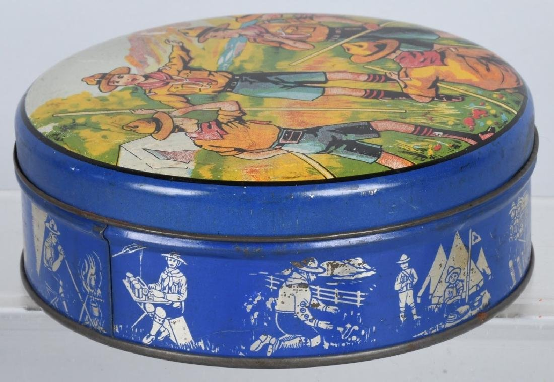 2-EARLY BOY SCOUT BISQUIT TINS - 3