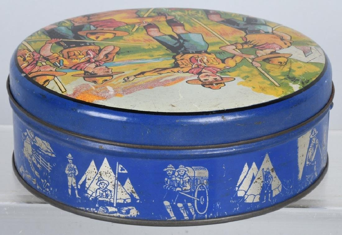 2-EARLY BOY SCOUT BISQUIT TINS - 4