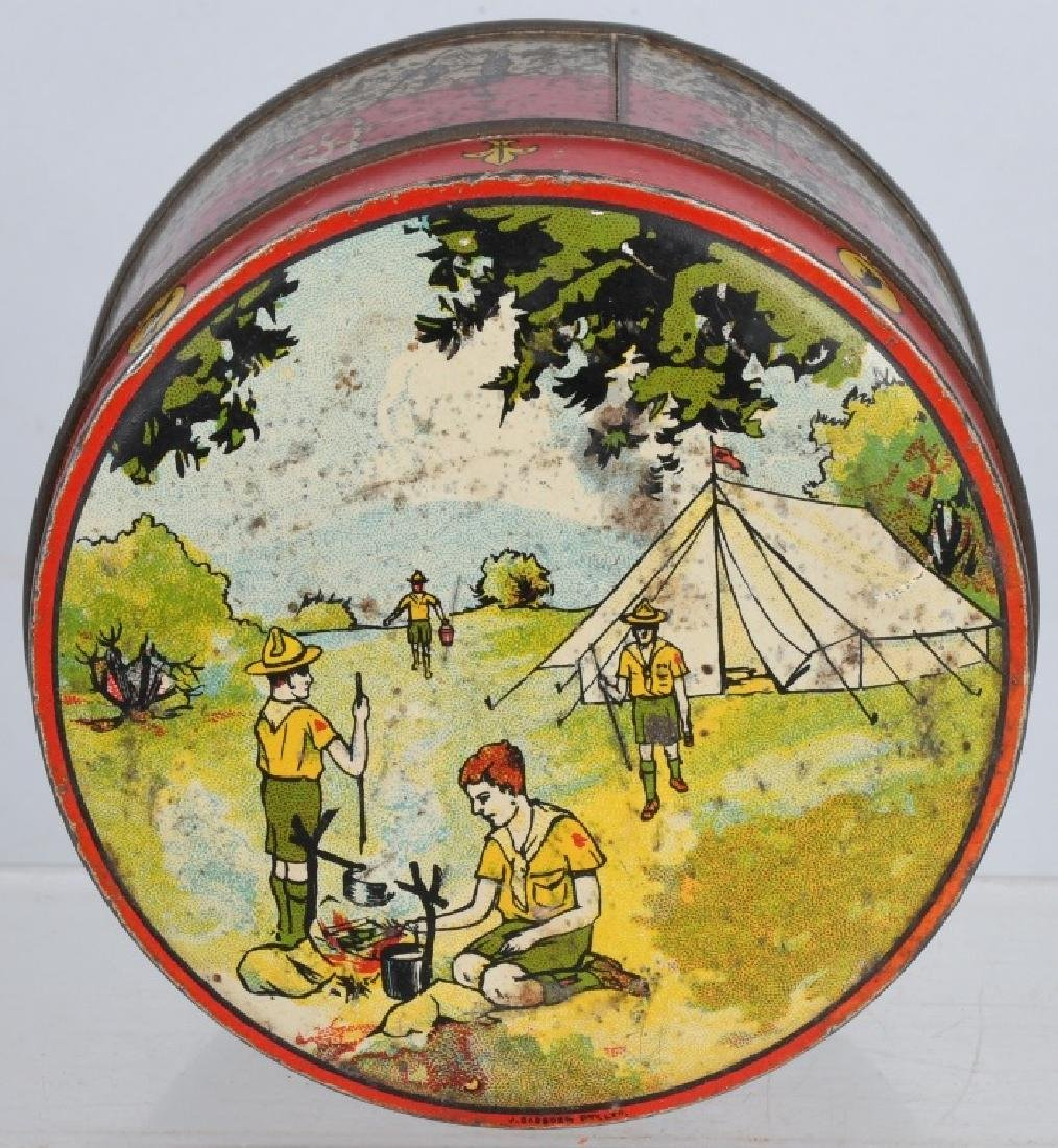 2-EARLY BOY SCOUT BISQUIT TINS - 5