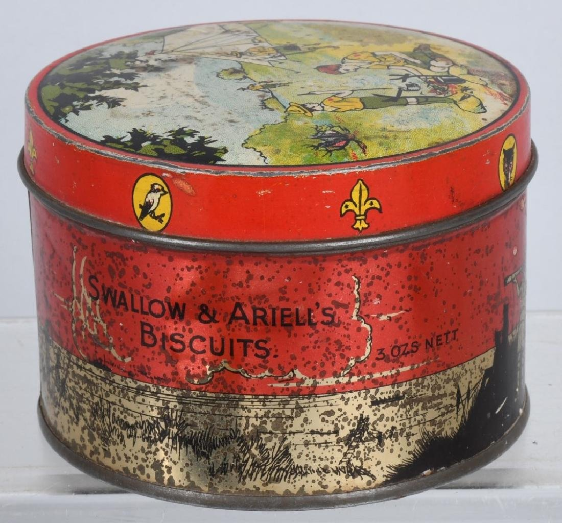 2-EARLY BOY SCOUT BISQUIT TINS - 6