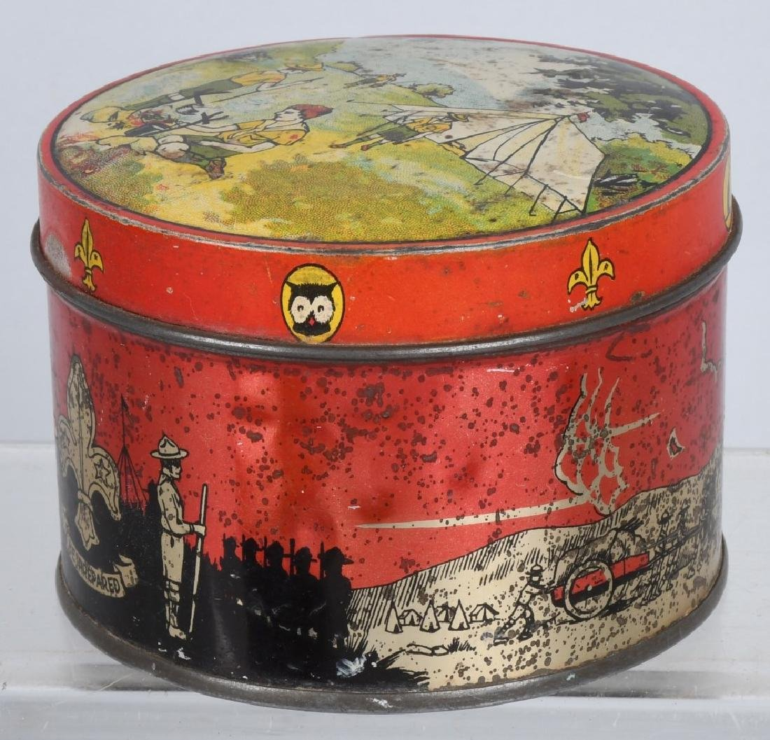 2-EARLY BOY SCOUT BISQUIT TINS - 7